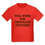 Will Work for Chocolate Cupcakes Kids Dark T-Shirt