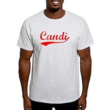 Vintage Candi (Red) T-Shirt