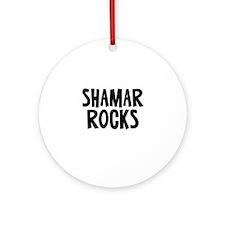 Shamar Rocks Ornament (Round)