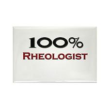100 Percent Rheologist Rectangle Magnet