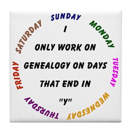 Genealogy Everyday Tile Coaster