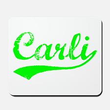 Vintage Carli (Green) Mousepad