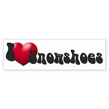 'I Love Snowshoes!' Bumper Bumper Sticker