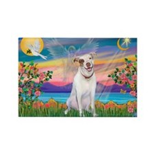 Guardian / Pit Bull Terrier Rectangle Magnet