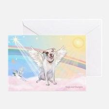 Dog Angel / Pit Bull Greeting Card