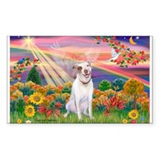 Autumn Angel / Pit Bull Rectangle Decal