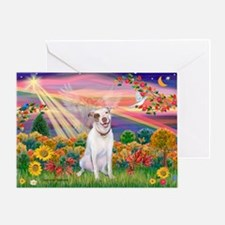 Autumn Angel / Pit Bull Greeting Card