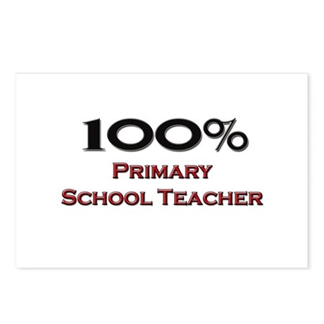 100 Percent Primary School Teacher Postcards (Pack