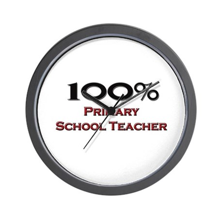 100 Percent Primary School Teacher Wall Clock