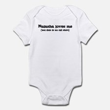 Natasha loves me Infant Bodysuit