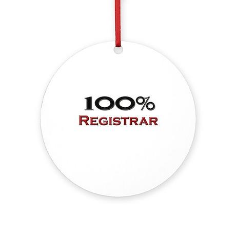 100 Percent Registrar Ornament (Round)