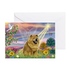 Cloud Angel & Chow Chow Greeting Card