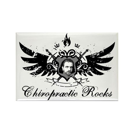 Chiropractic Rocks Rectangle Magnet (100 pack)