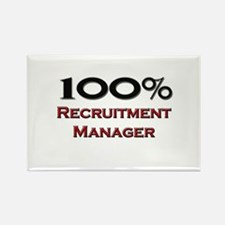 100 Percent Recruitment Manager Rectangle Magnet