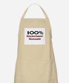 100 Percent Recruitment Manager BBQ Apron