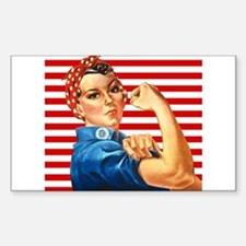 Rosie the Riveter Rectangle Decal