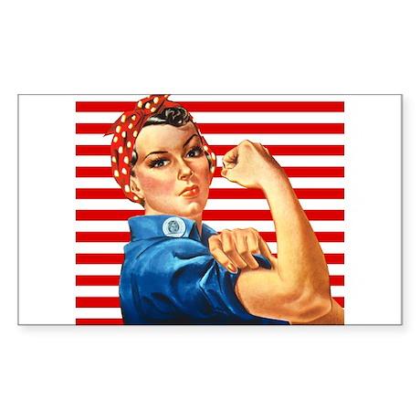 Rosie the Riveter Rectangle Sticker