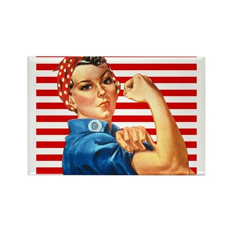 Rosie the Riveter Rectangle Magnet (10 pack)