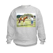 Girl with foal Sweatshirt