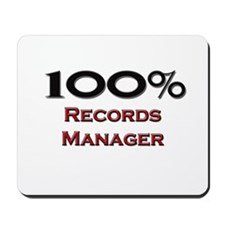 100 Percent Records Manager Mousepad