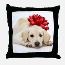 Yellow Lab Puppy Throw Pillow