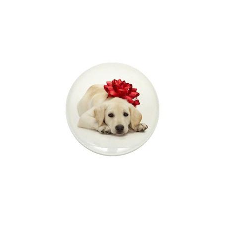 Yellow Lab Puppy Mini Button