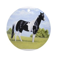 Painted Warrier Ornament (Round)