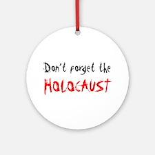 Holocaust Memorial Ornament (Round)