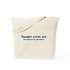 Xander loves me Tote Bag
