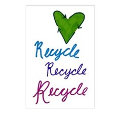 Recycle Heart Postcards (Package of 8)