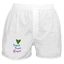 Recycle Heart Boxer Shorts