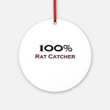 100 Percent Rat Catcher Ornament (Round)