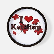I Love Ketchup Wall Clock