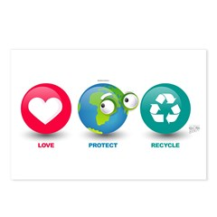 Love, Protect, Recycle Postcards (Package of 8)