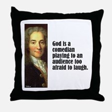 "Voltaire ""Comedian"" Throw Pillow"