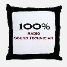 100 Percent Radio Sound Technician Throw Pillow