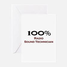 100 Percent Radio Sound Technician Greeting Cards