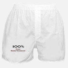 100 Percent Radio Sound Technician Boxer Shorts