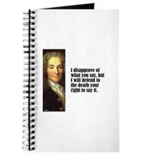 "Voltaire ""Disaprove"" Journal"