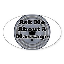 Ask Me About A Massage Oval Decal