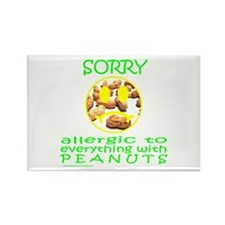 ALLERGIC TO PEANUTS Rectangle Magnet