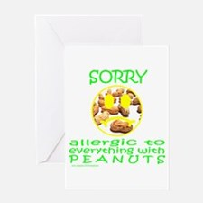 ALLERGIC TO PEANUTS Greeting Card