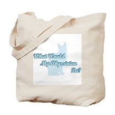 Abyssinian Blue Quote Tote Bag