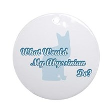 Abyssinian Blue Quote Ornament (Round)
