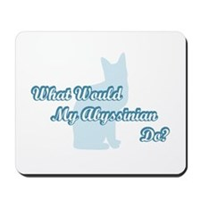 Abyssinian Blue Quote Mousepad