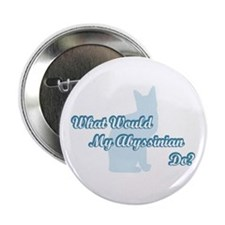 """Abyssinian Blue Quote 2.25"""" Button"""