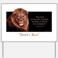 """Lion with Verse"" Yard Sign"