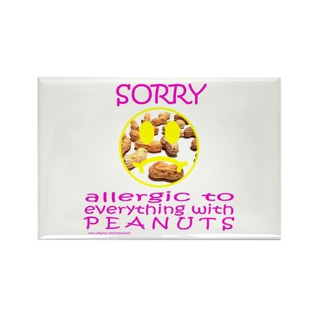 ALLERGIC TO PEANUTS Rectangle Magnet (100 pack)