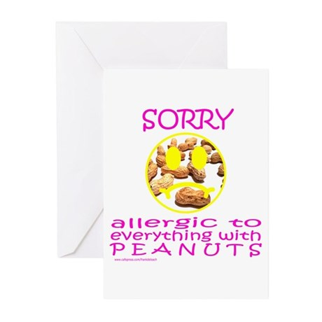 ALLERGIC TO PEANUTS Greeting Cards (Pk of 10)
