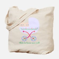 How We Roll Carriage Twins Tote Bag